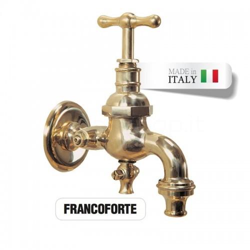 Rubinetto in ottone Mod. FRANCOFORTE con portagomma e dispositivo antigelo Morelli