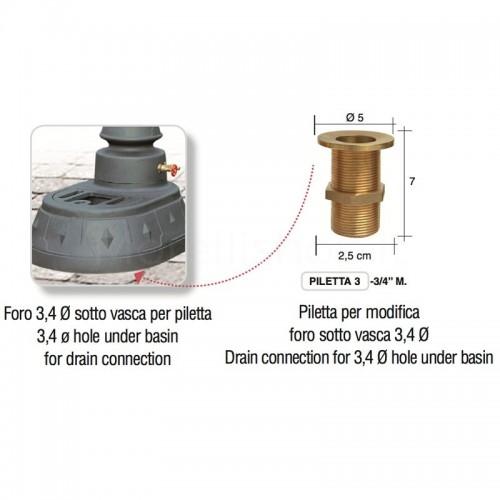 Foratura sotto vasca per piletta - Morava Smart