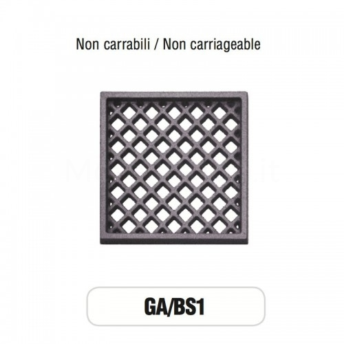 Griglia di Aerazione Mod. GA-BS1 in ghisa Morelli - NON CARRABILE