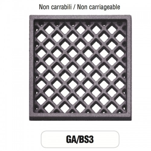 Griglia di Aerazione Mod. GA-BS3 in ghisa Morelli - NON CARRABILE