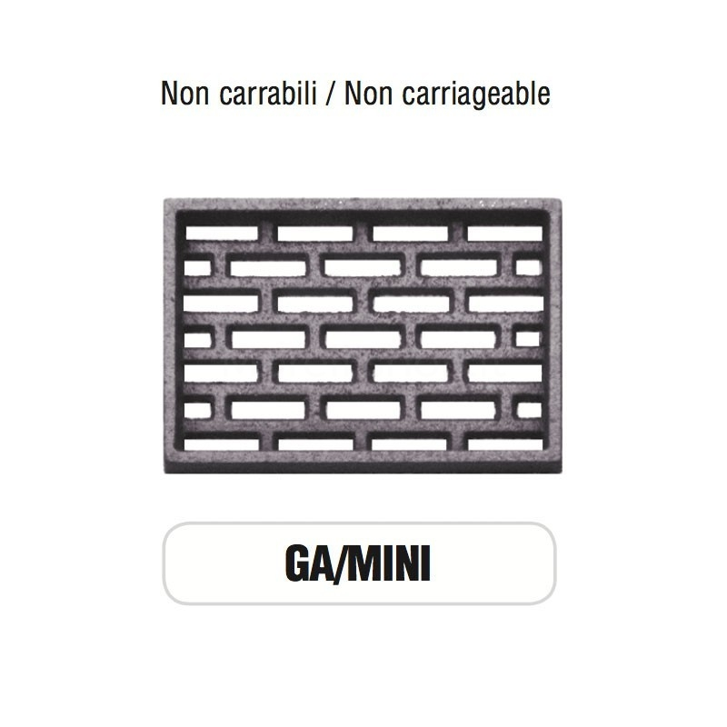 Griglia di Aerazione Mod. GA-MINI in ghisa Morelli - NON CARRABILE