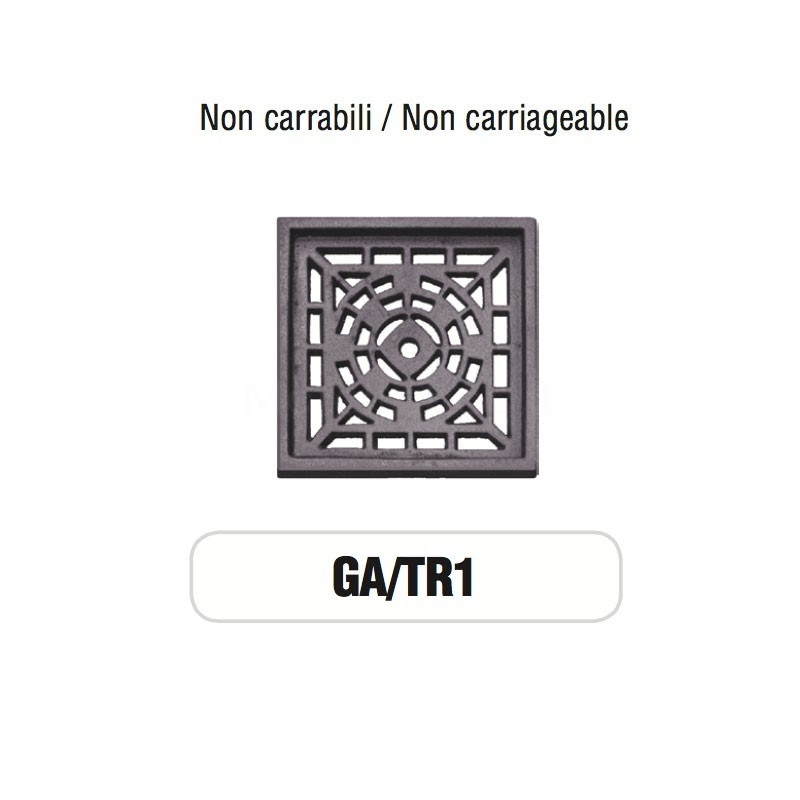 Griglia di Aerazione Mod. GA-TR1 in ghisa Morelli - NON CARRABILE