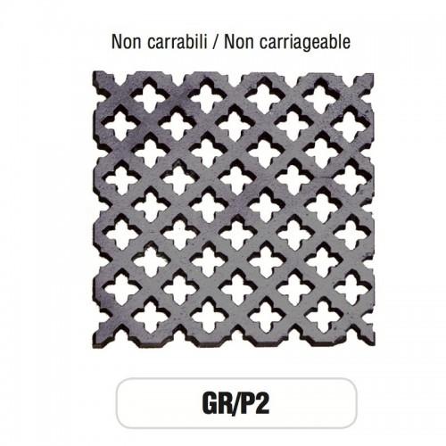 Griglia di Aerazione Mod. GR-P2 in ghisa Morelli - NON CARRABILE