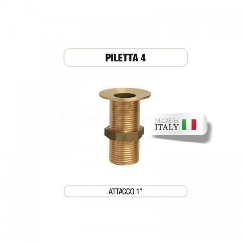 """Piletta in ottone da 1"""" senza tappo - Morelli"""