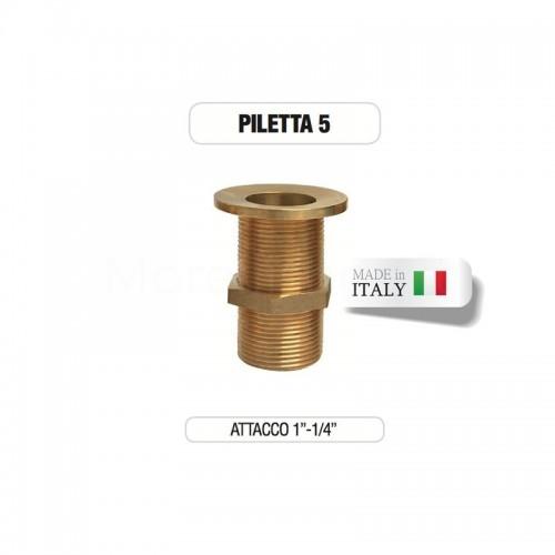 """Piletta in ottone da 1"""" e 1/4"""" senza tappo - Morelli"""