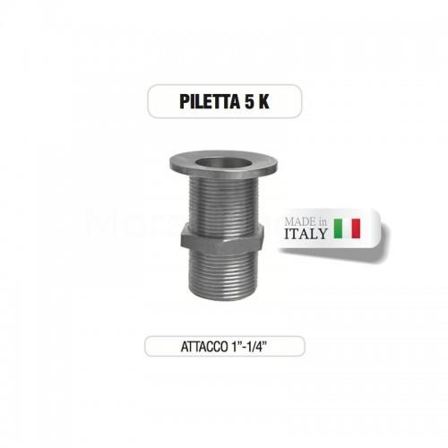 """Piletta cromata 1"""" e 1/4"""" senza tappo su base di ottone Morelli"""