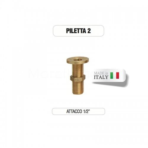 """Piletta in ottone da 1/2"""" senza tappo - Morelli"""