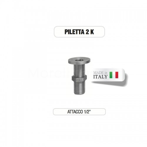 """Piletta cromata 1/2"""" senza tappo su base di ottone Morelli"""