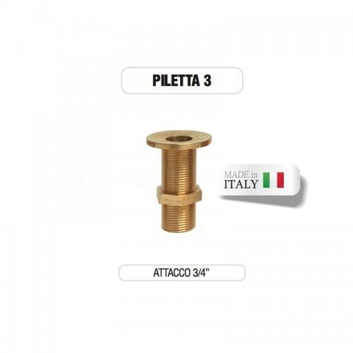 """Piletta in ottone da 3/4"""" senza tappo - Morelli"""