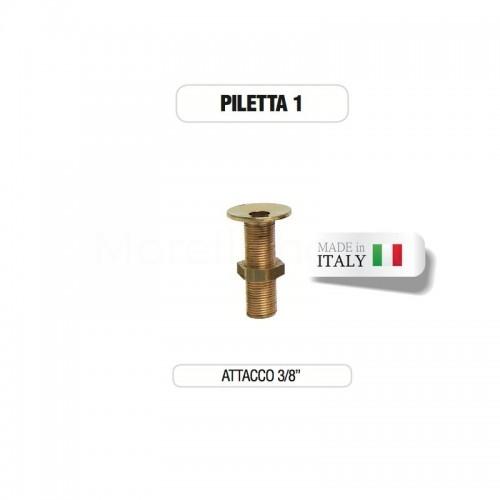 """Piletta in ottone da 3/8"""" senza tappo - Morelli"""