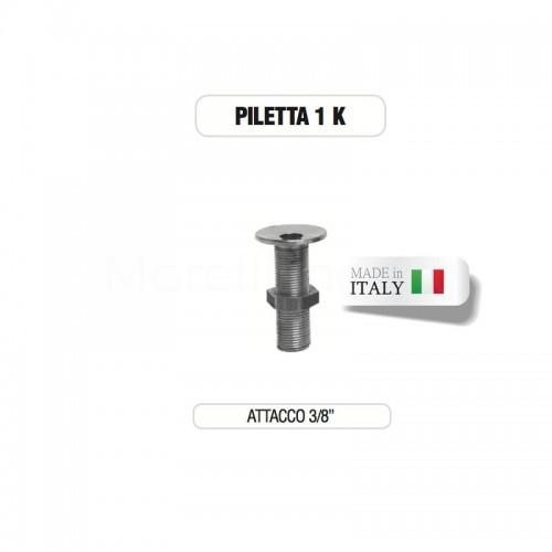 """Piletta cromata 3/8"""" senza tappo su base di ottone Morelli"""