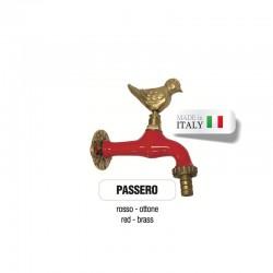 Servizio di verniciatura colore ROSSO RAL 3002 per rubinetti in ottone Morelli
