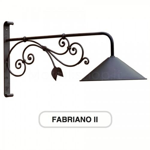 Lampione Mod. FABRIANO 2 ferro battuto Morelli - Arredo giardino