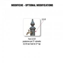 Foratura posteriore per aggiunta rubinetto - Monachella Grande - Servizio su misura