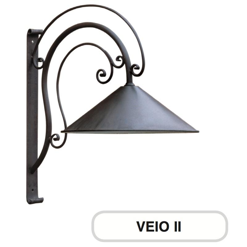 Lampione mod muro giardino veio 2 ferro battuto morelli for Arredo giardino ferro battuto