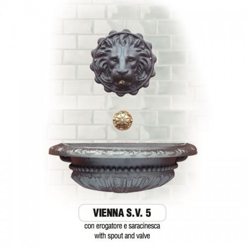 Fontana a muro in ghisa Mod. VIENNA SV 5 Morelli - Arredo esterno