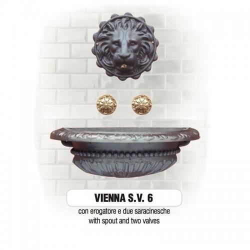 Fontana a muro in ghisa Mod. VIENNA SV 6 Morelli - Arredo esterno