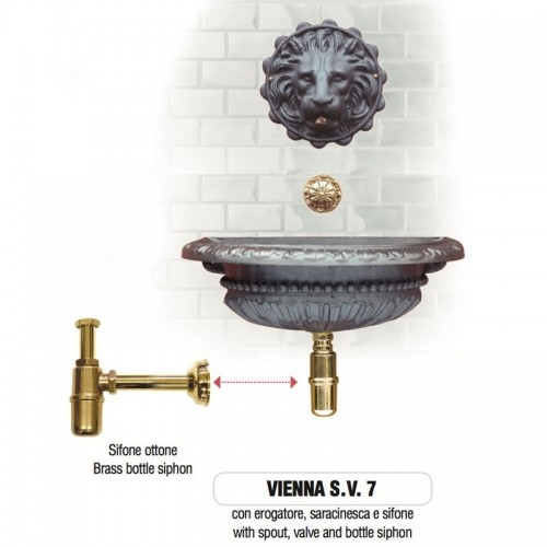 Fontana a muro in ghisa Mod. VIENNA SV 7 Morelli - Arredo esterno
