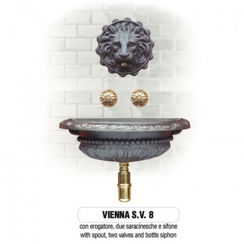 Fontana a muro in ghisa Mod. VIENNA SV 8 Morelli - Arredo esterno