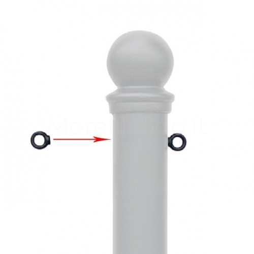 Anello o Anelli per dissuasore - Servizio su misura - per aggancio catena