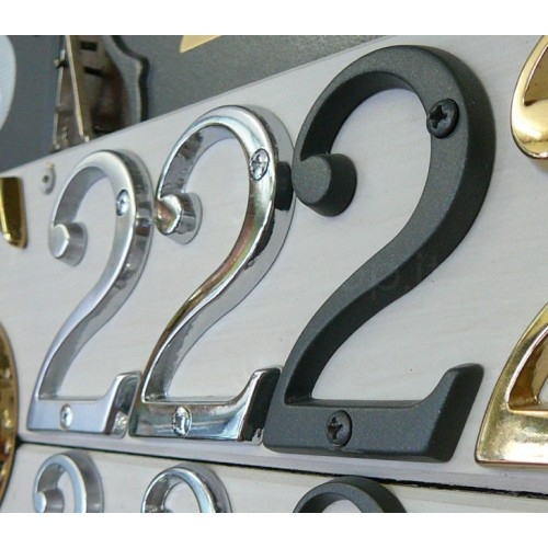 Numero Civico 12 cm ottone trattato non scurisce - Morelli