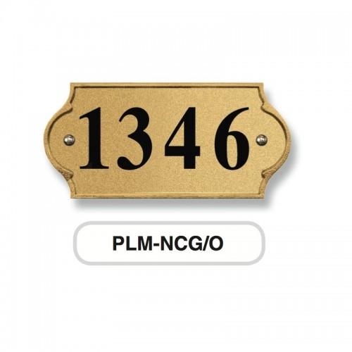 NUMERO CIVICO quattro cifre incisione su targa in ottone verniciata antracite Morelli