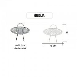 Griglia Inox protezione foro vasche in ghisa