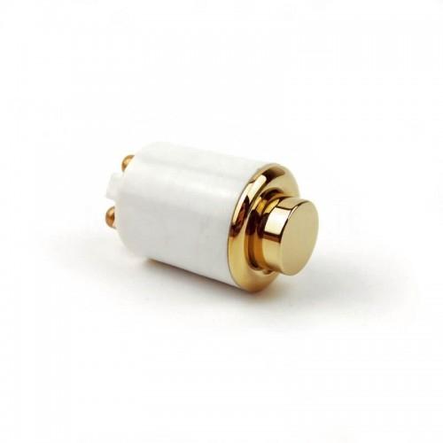 Pulsante in ottone naturale Mod. DONG OLN per campanello ricambio originale Morelli