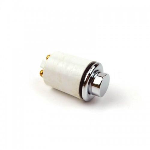 Pulsante in ottone Cromato Mod. DONG K per campanello ricambio originale Morelli