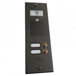 OCCASIONE - Pulsantiera per videocitofono antracite 2 NOMI in ottone finitura Antracite PEZZO UNICO