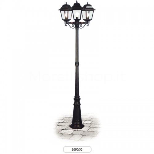 Lampione Mod. 2050/30 Morelli A 3 LANTERNE - Arredo giardino