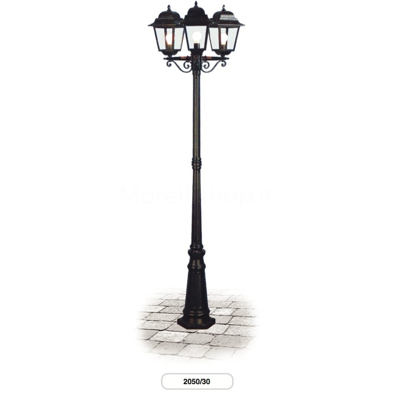 Lampione mod 2050 30 morelli a 3 lanterne arredo for Lanterne arredo