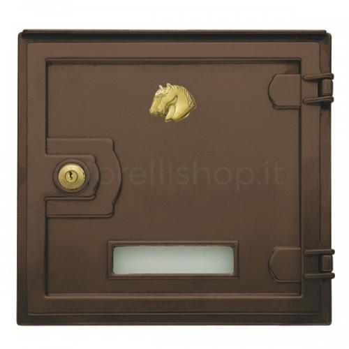 Sportello ottone brunito Mod. ARP/B Morelli ritiro posta per cassetta postale