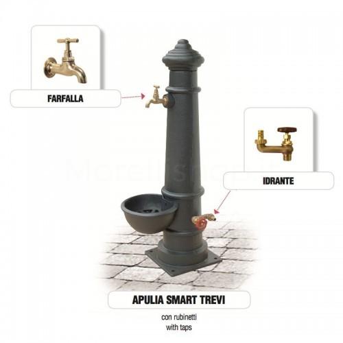 Fontana da giardino in ghisa Mod. APULIA SMART TREVI Morelli - Arredo giardino