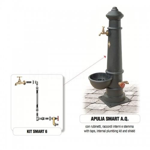 Fontana da giardino in ghisa Mod. APULIA SMART AQ Morelli - Arredo giardino