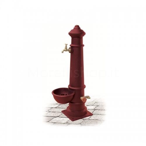 Fontana da giardino in ghisa Mod. APULIA SMART RED Morelli - Arredo giardino