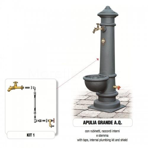 Fontana da giardino in ghisa Mod. APULIA GRANDE AQ Morelli - Arredo giardino