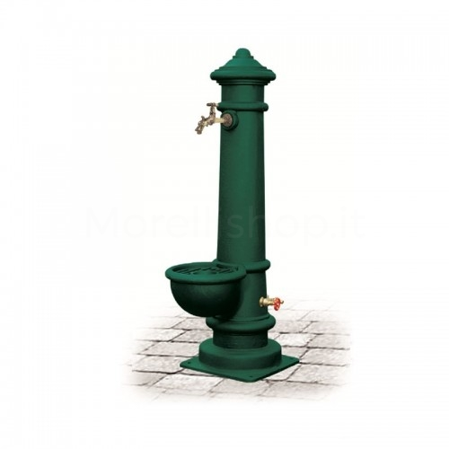 Fontana da giardino in ghisa Mod. APULIA GRANDE GREEN Morelli - Arredo giardino
