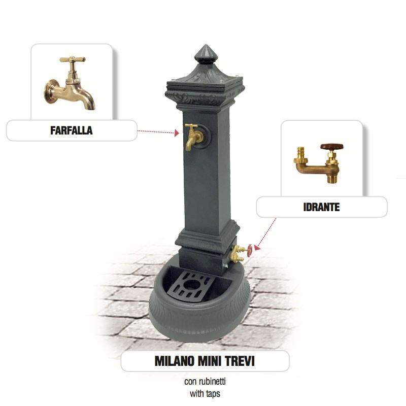Fontana da giardino in ghisa Mod. MILANO MINI TREVI Morelli - Arredo ...