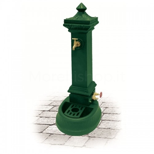 Fontana da giardino in ghisa Mod. MILANO MINI GREEN Morelli - Arredo esterno