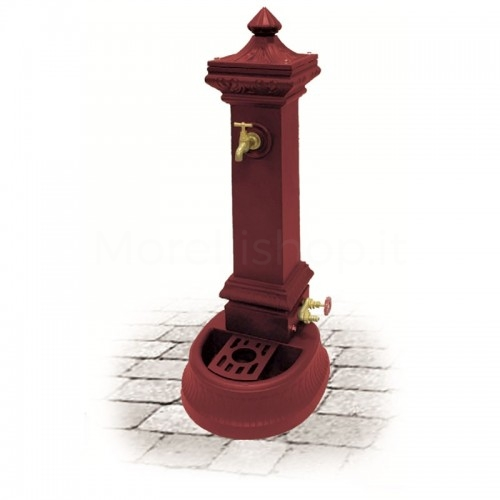 Fontana da giardino in ghisa Mod. MILANO MINI RED Morelli - Arredo esterno