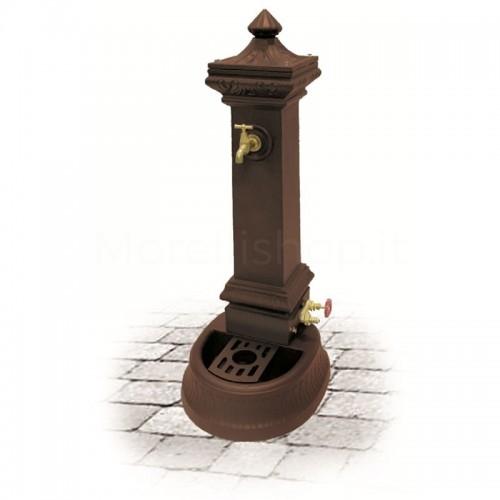 Fontana da giardino in ghisa Mod. MILANO MINI BROWN Morelli - Arredo esterno