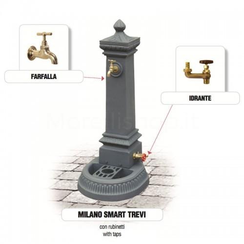Fontana da giardino in ghisa Mod. MILANO SMART TREVI Morelli - Arredo esterno