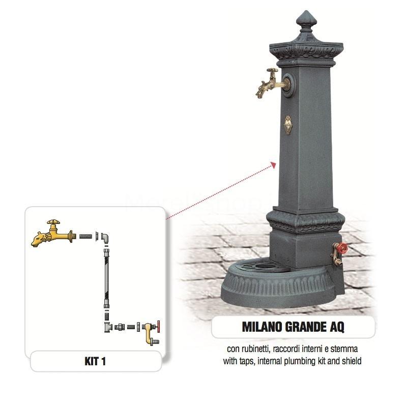 Fontana da giardino in ghisa Mod. MILANO GRANDE AQ Morelli - Arredo esterno