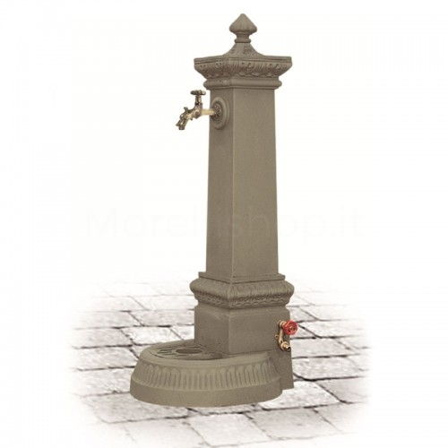 Fontana da giardino in ghisa Mod. MILANO GRANDE BEIGE Morelli - Arredo esterno