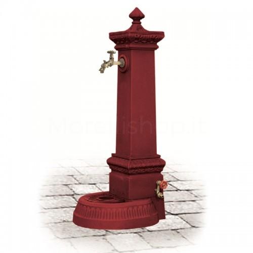 Fontana da giardino in ghisa Mod. MILANO GRANDE RED Morelli - Arredo esterno