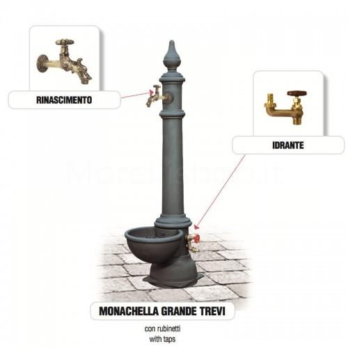 Fontana da giardino in ghisa Mod. MONACHELLA GRANDE TREVI Morelli - Arredo esterno
