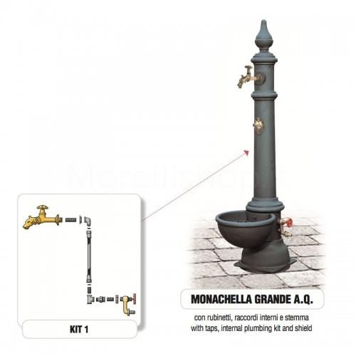 Fontana da giardino in ghisa Mod. MONACHELLA GRANDE AQ Morelli - Arredo esterno