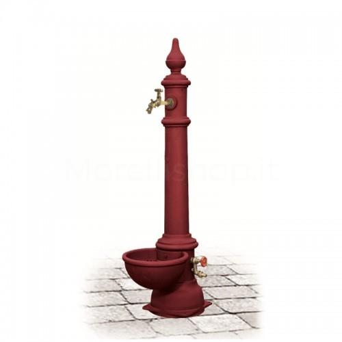 Fontana da giardino in ghisa Mod. MONACHELLA GRANDE RED Morelli - Arredo esterno