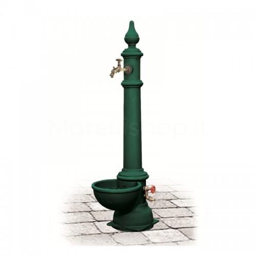 Fontana da giardino in ghisa Mod. MONACHELLA GRANDE GREEN Morelli - Arredo esterno